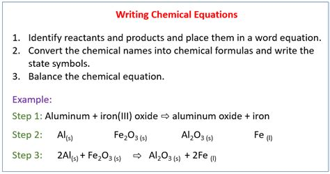 writing a balanced chemical equation solutions exles videos