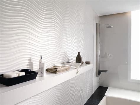 Modern Bathroom Feature Tiles 3 Dimensional Feature Tiles Qatar Nacar Contemporary