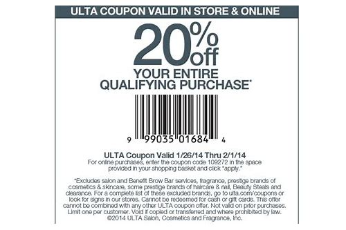 ulta coupons 20 off entire purchase october 2018