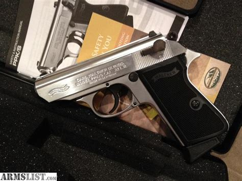 Walther Ppk S 22lr Nickel armslist for sale walther ppk s 22lr nickel