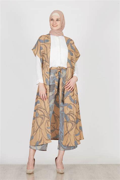 Tajima Setelan Casual Fashion Wanita Panjang Trendy Modern 2017 baju atasan muslim model outer paling modern dan trendy