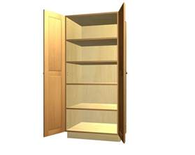 How Tall Are Kitchen Cabinets by 2 Door Tall Pantry Cabinet