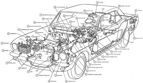 car part diagram interior car car parts