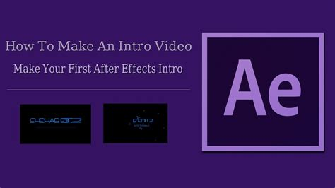 videomakerfx tutorial how to make an intro video for youtube after effects