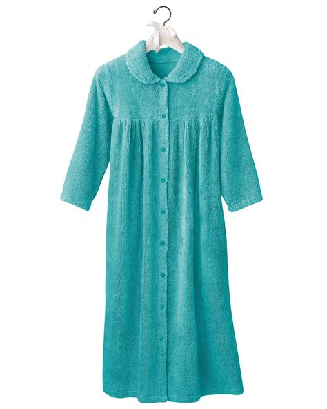 robe shop snap front chenille robes shop national