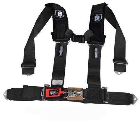 Safety Belt pro armor quot h quot style 4 point harness 3 quot wide black