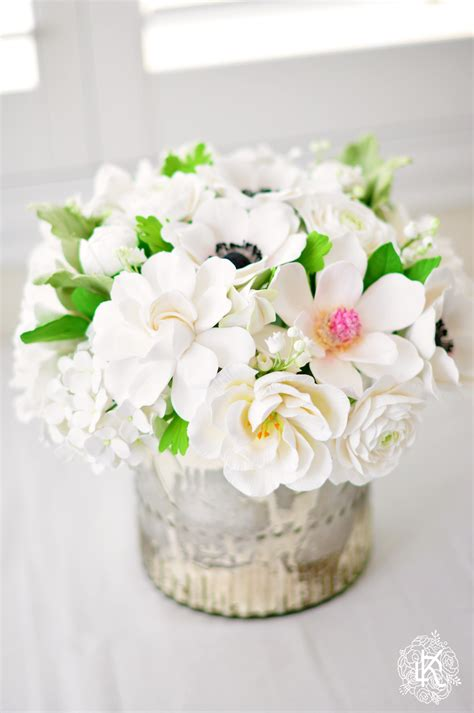 home decor floral arrangements white and silver home decor floral arrangement dk designs