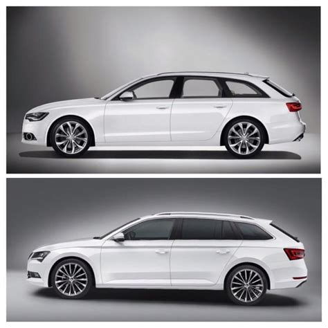 Skoda And Audi by New Skoda Superb Combi Compared To Audi A6