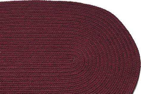 solid braided rugs solid burgundy braided rug
