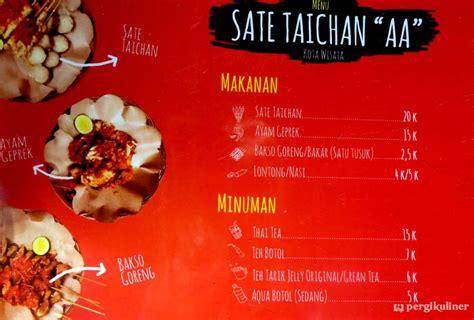 diperbarui menu sate taichan aa cibubur bogor