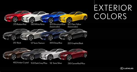 lexus blue color code lexus lc available colors
