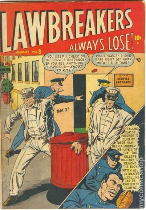 lawbreakers always lose 1948 comic books