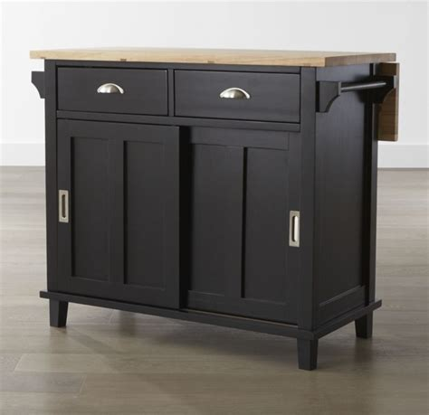 kitchen island black belmont black kitchen island crate and barrel