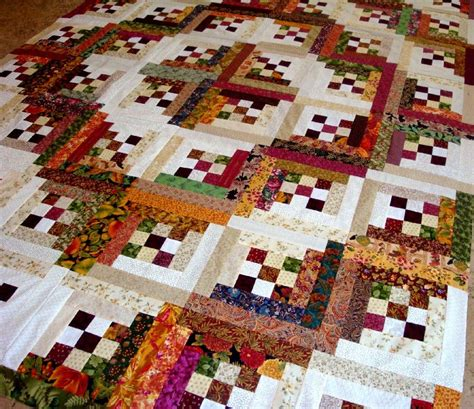 patchwork cabin log cabin in the woods quilt top log cabin quilts log