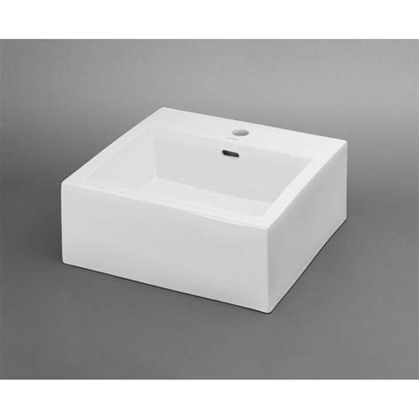 ronbow square vessel sink ronbow square 18 ceramic vessel bathroom sink in white