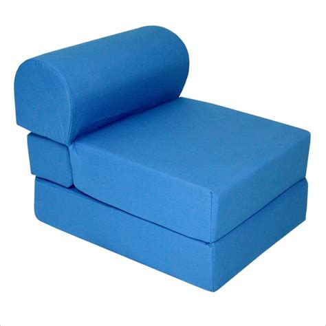 elite royal blue children s foam sleeper chair seating ebay