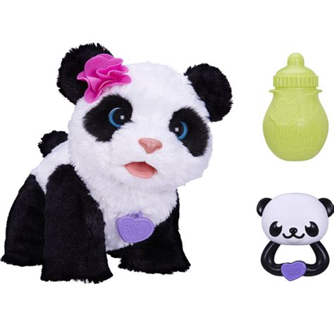 fur real pets furreal friends pom pom my baby panda pet walmart