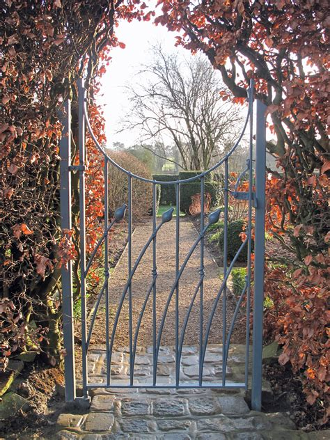 Iron Garden Gates by St Pier Wrought Iron Garden Gate