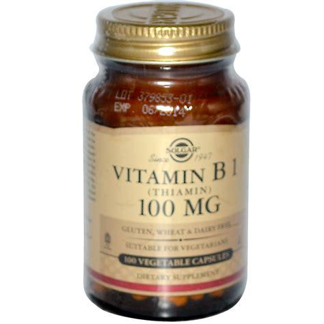 Vitamin B1 Solgar Vitamin B1 100 Mg 100 Veggie Caps Iherb