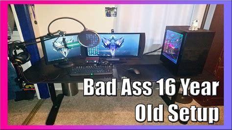 Awesome Gaming Desk Setup 2016 Youtube Awesome Gaming Desks