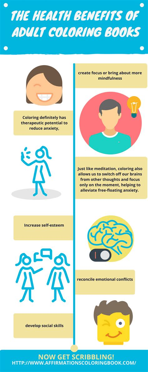 benefits of coloring for adults the health benefits of coloring books infographic