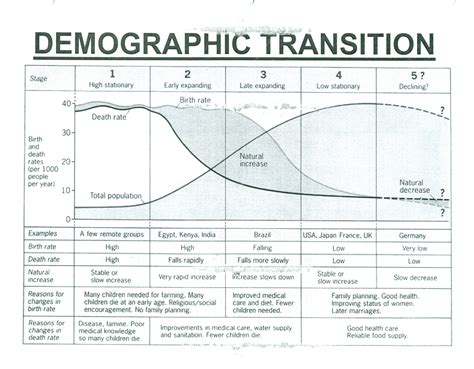 demographic transition model stages 1 5