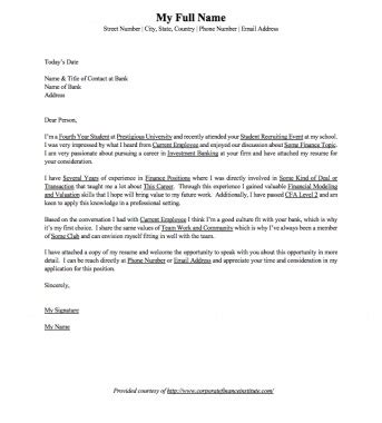 investment banking ib cover letter word template eloquens