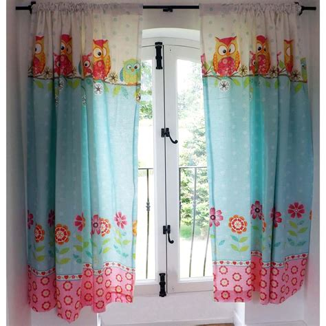 owl bedroom curtains owls 66 x 72 lined curtains with tie backs new girls