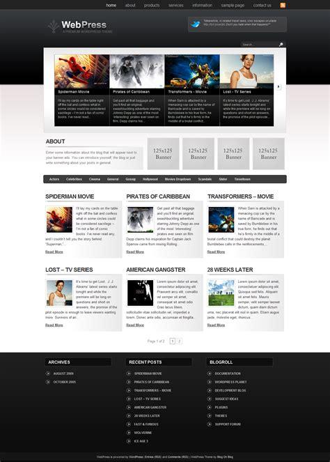 worldpress templates premium theme webpress