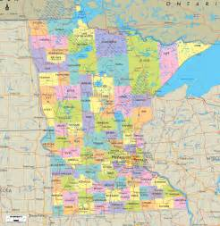 political map of minnesota ezilon maps