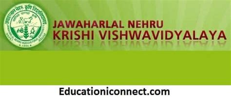 Nehru College Coimbatore Mba Fees Structure by Jawaharlal Nehru Krishi Vishwavidyalaya Fee Structure 2018
