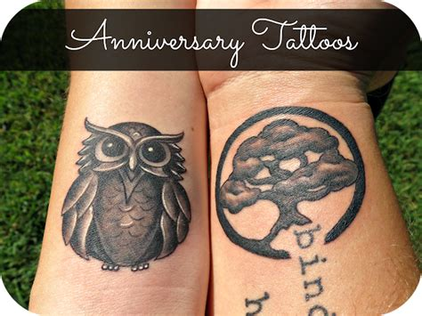 owl tattoos for couples anniversary couples