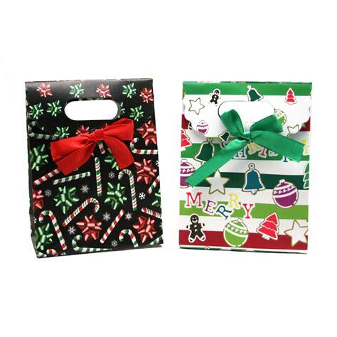 small folded top christmas gift bags