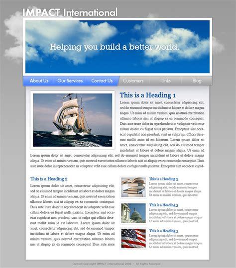design effect international freelance portfolio 187 impact international website design
