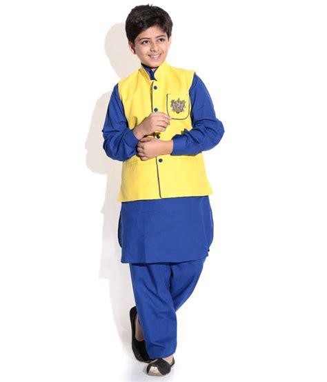 Emon Blue Home Set riwaaz blue lemon color kurta pajama set with jacket for