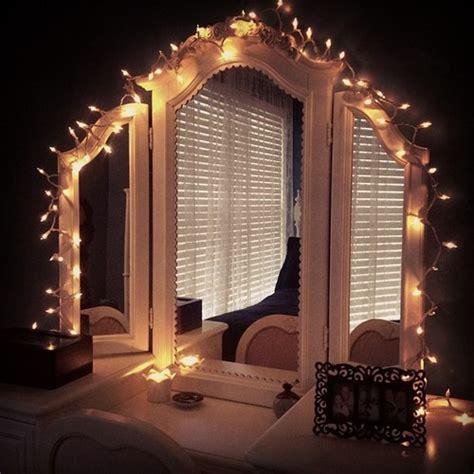 Vanity Mirror With Light Bulbs Around It by Kawaii Rooms