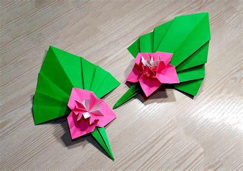 Origami Modular Flower - easy paper flower ideas for decor origami
