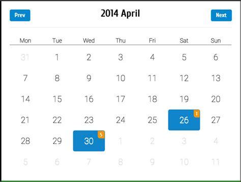 Css Responsive Calendar