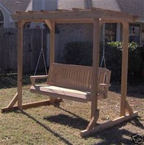 free standing bench swing bench swing stand plans woodworking projects plans
