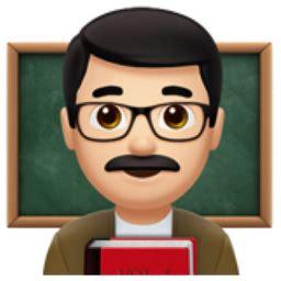 man teacher: light skin tone emoji (u+1f468, u+1f3fb, u+