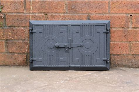 cast iron door clay bread oven door pizza stove
