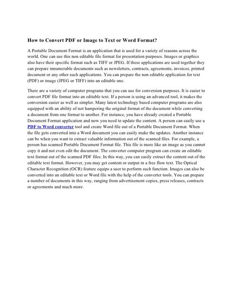 format cd text how to convert pdf or image to text or word format