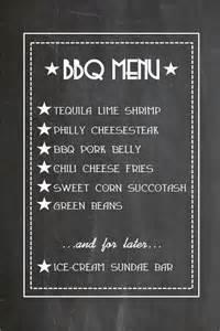 bbq menu template sle chalkboard menu template chalk board style flyer
