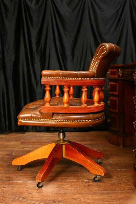 Captains Chair And Desk by Regency Dumbbell Mahogany Desk Captains Tub Chair Set