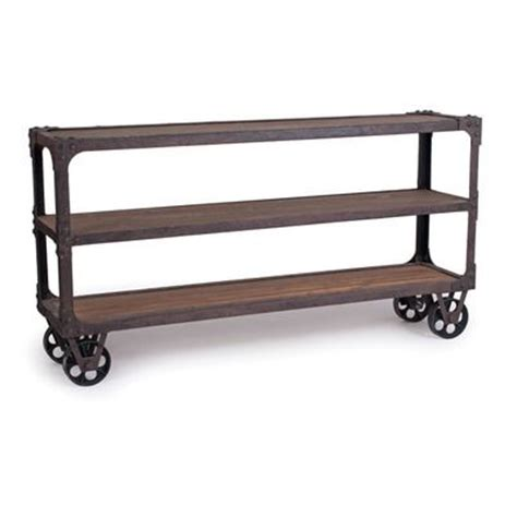 rustic sofa table with wheels new rustics home rustic industrial sofa table diy