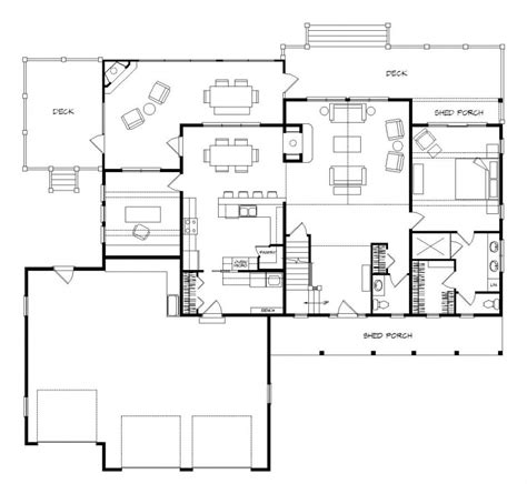 lake house floor plans walkout basement house design plans