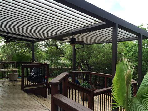 Louvered Patio Roof System by Equinox Louvered Roof System Patio Covers