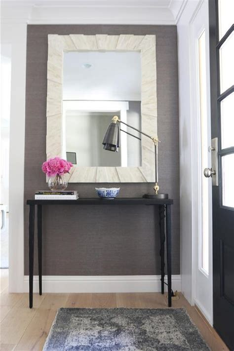 Entrance Tables And Mirrors Black Foyer Table With Mirror Transitional Entrance Foyer