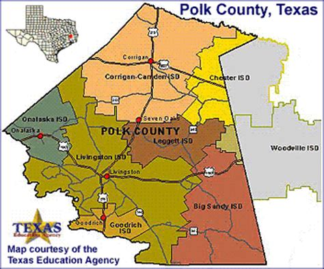 map of polk county texas polk county images