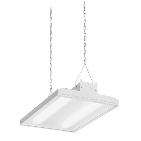 Lithonia Light Fixtures Lithonia Lighting White Led High Bay Light Fixture Ibh 18l Mvolt The Home Depot